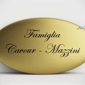 Targa per Porta in Alluminio Gold Ovale Lucida e Satinata