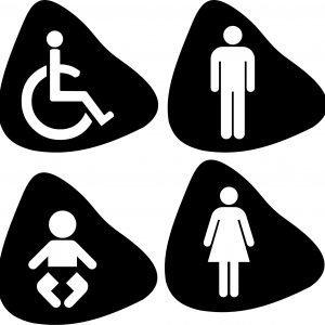 Targe per Toilette modello toi1
