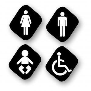 Targa per Toilette TOI2